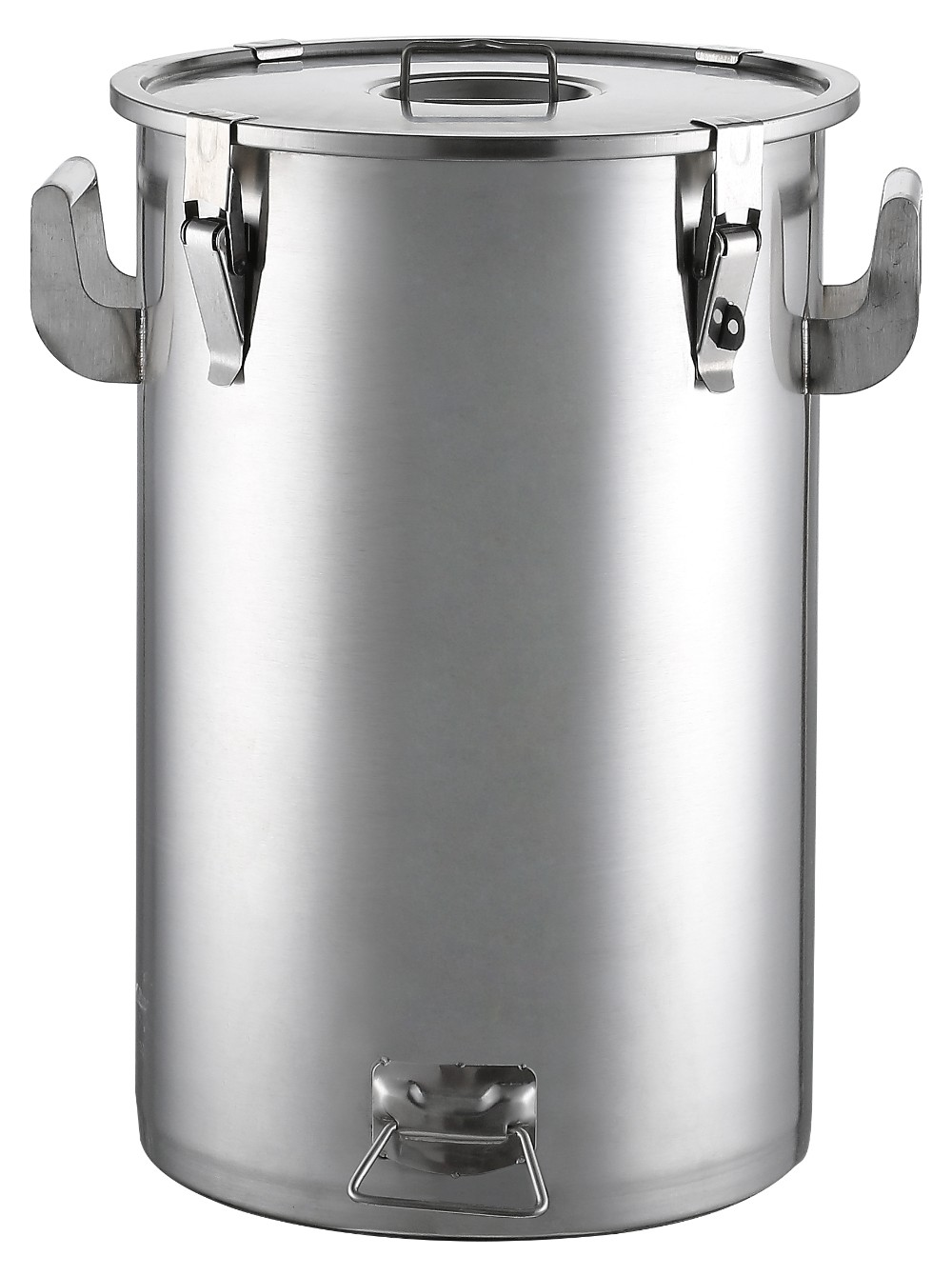 Stainless Steel Air Tight Stock Pot With Clamps