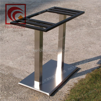 Rectangular Stainless Steel Table Base For Restaurant