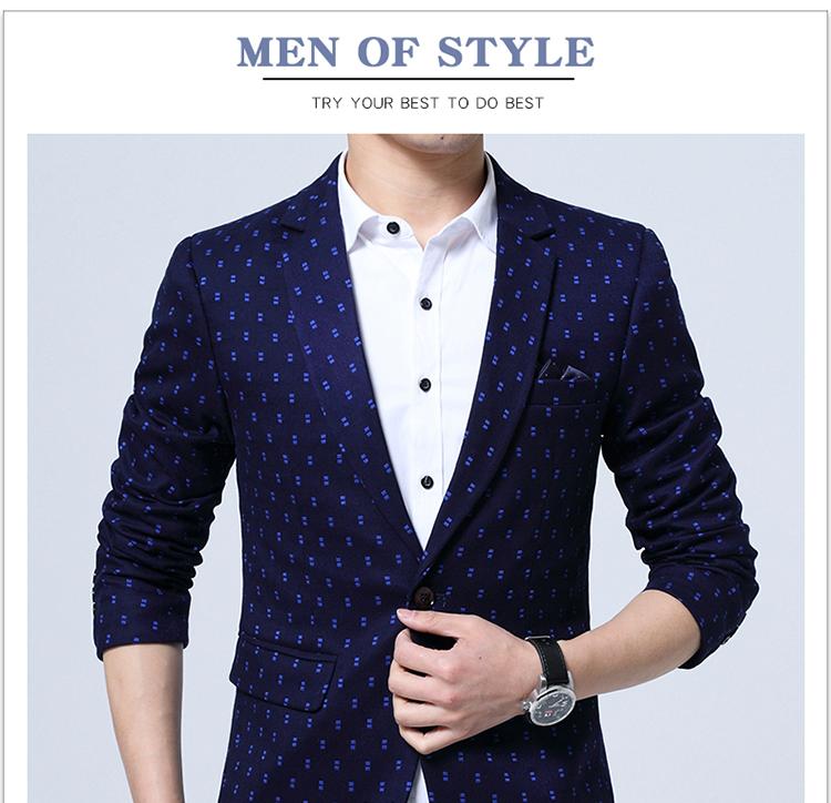 0ef445227b1 2019 Wholesale Brand Blazer Men Fashion Casual Slim Blazers 2017 ...