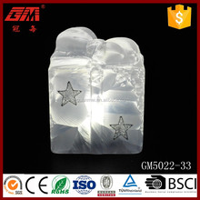 China factory direct sell fashionable led glass gift box ornaments