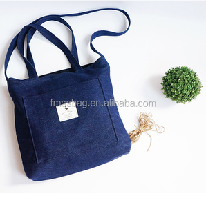 Printing Logo Standard Size Organic Fabric Eco Tote Shopping Cotton Bag