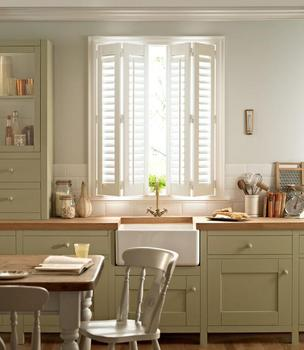 Decorative Interior Wood Caving Bi Fold Plantation Shutters For Kitchen Windows