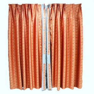 Lghome Buffalo Plaid Curtains Gingham/Check Pattern Panels, Luxury Taffeta Lined Lace Curtains