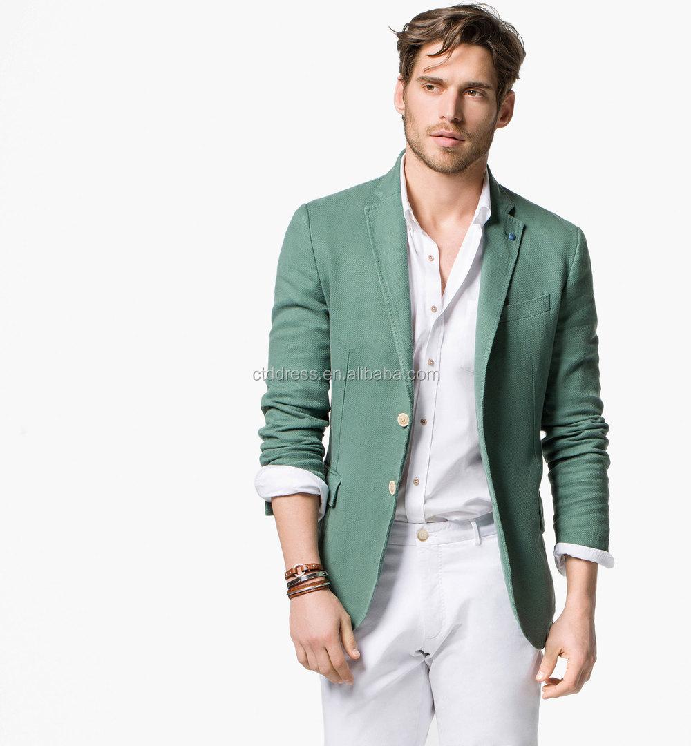 cheap for discount 51337 3da4f 2015 Da Uomo Di Alta Qualità Blazer Da Uomo Di Lino Verde - Buy Blazer Da  Uomo,Blazer Per I Ragazzi,Giacca Casual Per Uomo Product on Alibaba.com