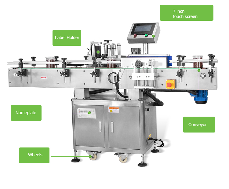 20-200csmin fully automatic labeling machine for jar