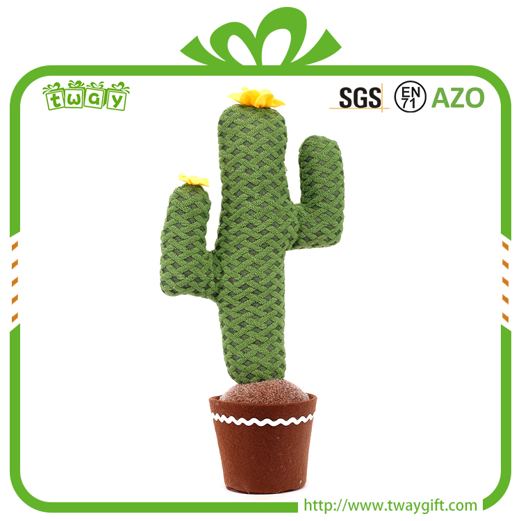 15 Inch brand new cactus artificial pot plant decorative ornamental plants types of fabric decoration