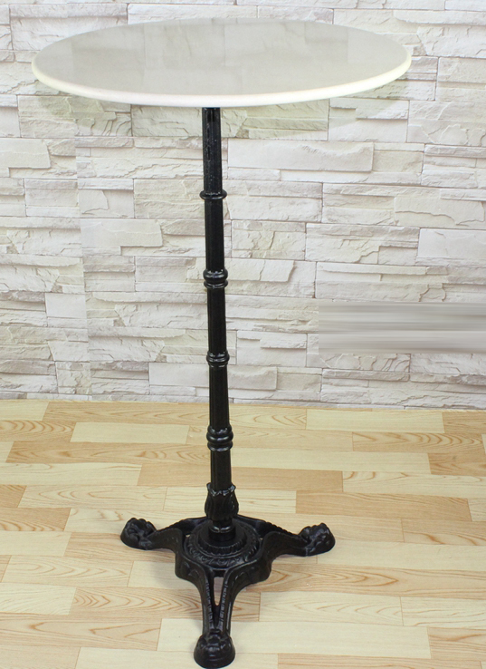 Antique European Style Marble Top Cast Iron High Bar Table Lq-g913 ...