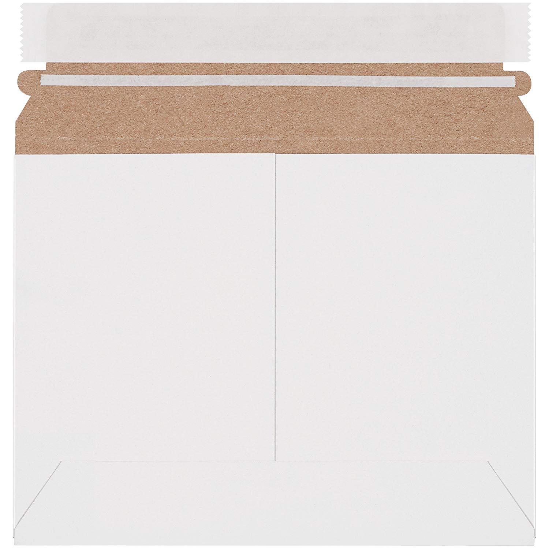 "Boxes Fast BFRMU86W Utility White Flat Mailers, 8"" x 6"", White (Pack of 200)"