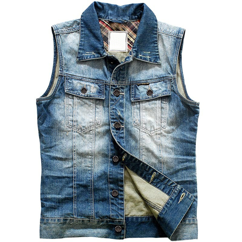 Wholesale No Sleeve Denim Jacket Men - Buy No Sleeve Denim Jacket ...