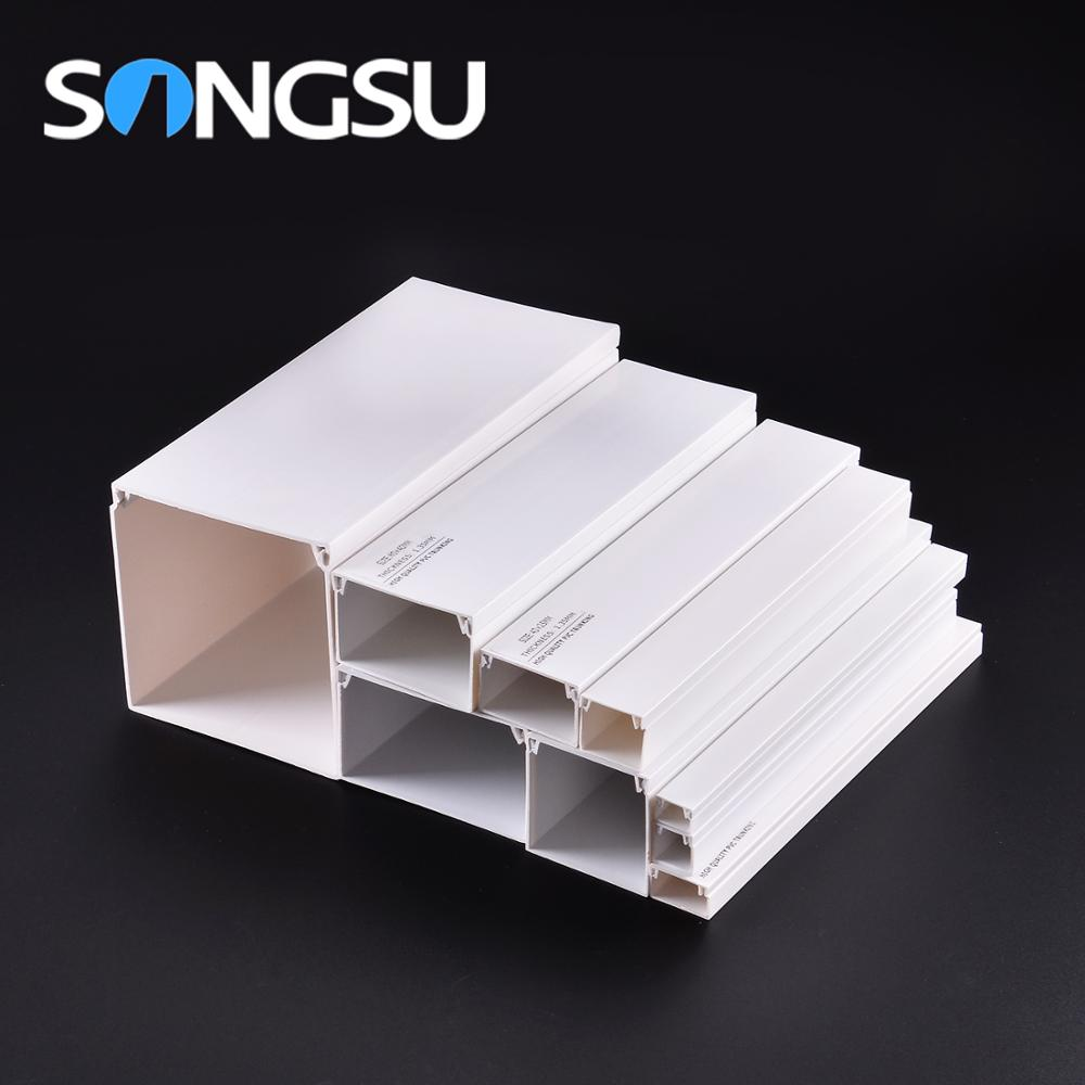 Promotion price Flame-Resisting 100 x 50 mm pvc trunking 50x50mm/wall channel for cables