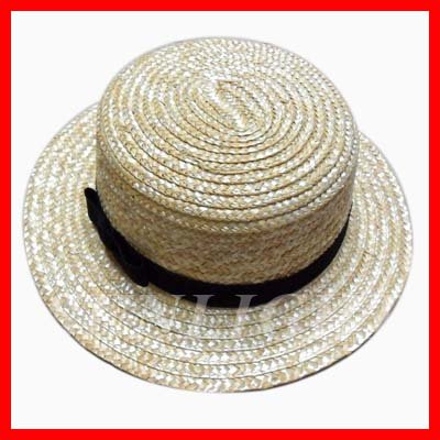 e13f00502eb7b Promotion straw boater hat custom Straw Hat blank wholesale