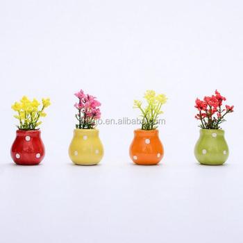 Mini Künstliche Dekorative Anlagen Des Kreativen Keramischen Blumentopfes  Für Wohnzimmer - Buy Dekorative Pflanzen Für Wohnzimmer,Künstliche ...