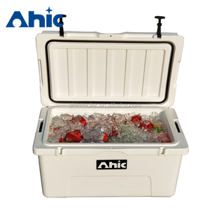 China AHIC 90QT fishing cooler box/car cooler box rotomolded cooler box