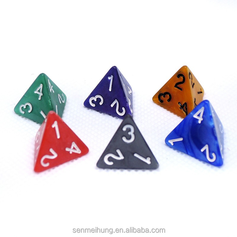 A set of colorful RPG dice for board game/Party acrylic rpg dice