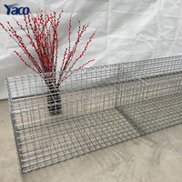 Yemen market 5*1*0.5 m Galvanized 100*120 mm gabion mattress mesh