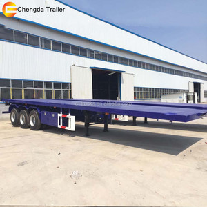 Tanzania Small 20 Tons Truck Extendable Used Aluminum Flatbed Trailer for sale