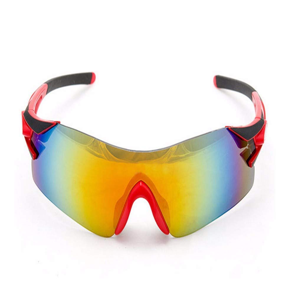 509e2450980 Get Quotations · FRFG Ski Sports Sunglasses Colorful Mountain Bike  Protective Glasses Bicycle Frameless Riding Glasses UV Protection