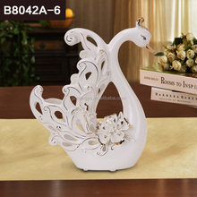 Classical pary favor wedding decoration furniture accessories ceramic no moq swan lovers crafts