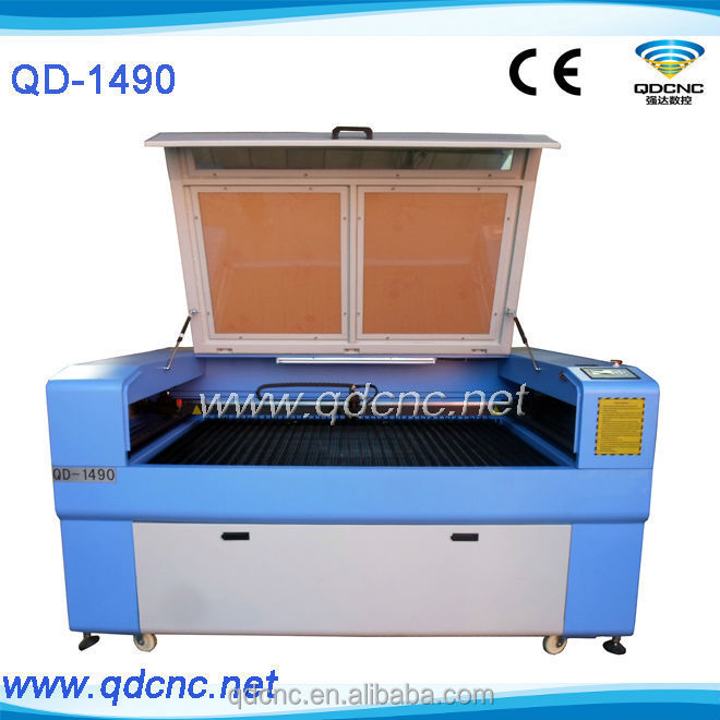 cnc laser wood cutter from Jinan Qiangda/150w laser cutter/multi function laser cutting machine QD-1490
