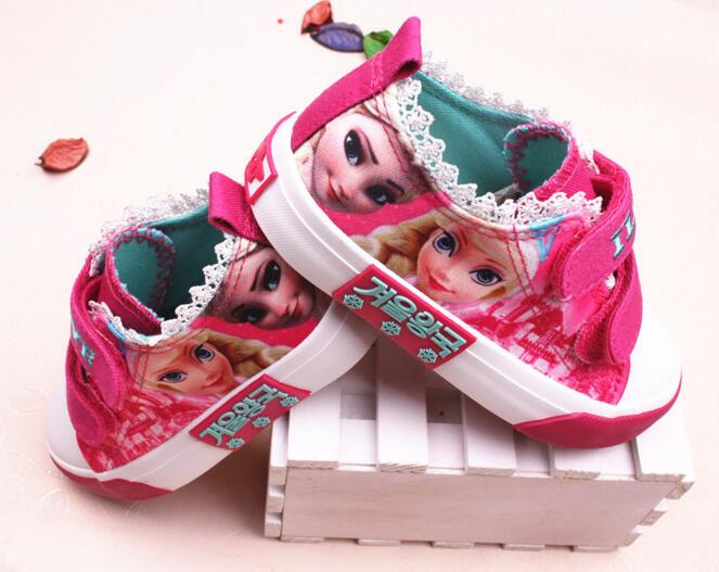 Princess Girls Shoes For Kids 2016 New Children Shoes Ice Snow Queen Fashion Elsa Anna Casual