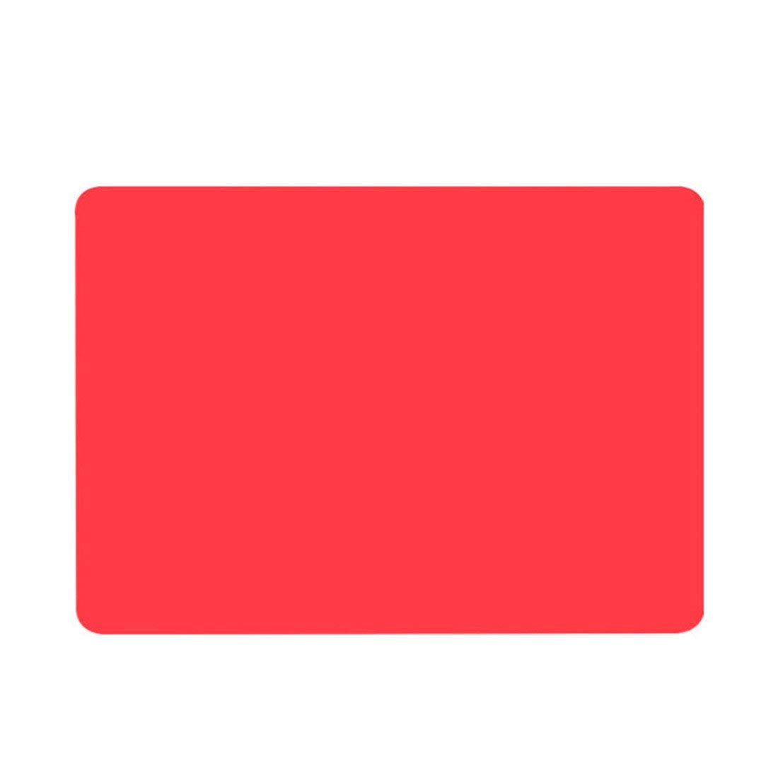 HOBOYER Silicone Table Mats Soft Non Slip Waterproof Heat Resistant Liner Oven Pad for Kids Foods Mats Free FDA[15.7411.81inch] (Red)