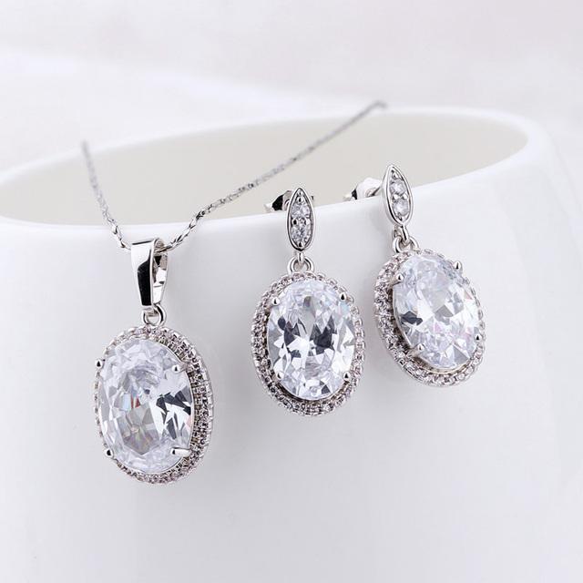 China Cubic Zirconia White Gold Jewelry Wholesale Alibaba