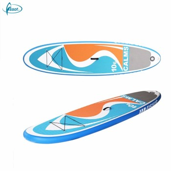 Fissot double layer inflatable sup paddle board for sale with accessories