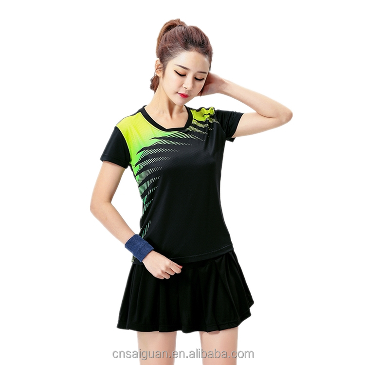 Top quality sports clothing fashion ladies badminton jersey wear