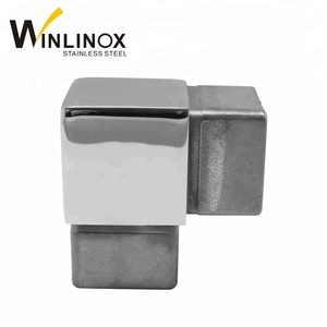 Square Hand Rail Tube Connector Stainless Steel Square Pipe Fittings