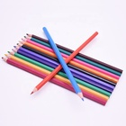 Hot sale children student stationery gift set wholesale plastic colored pencil promotional color
