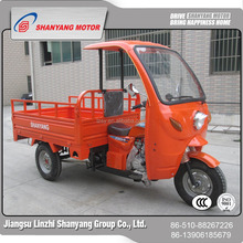 China wholesale websites three wheel bike with driver cabin 150cc cargo Tricycle with cover battery three wheel wagon tricycle