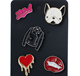 Lovely cartoon soft enamel zinc alloy pin badge set