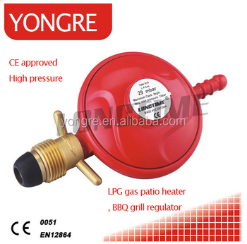 CE Approved Patio Heater Parts LPG Gas Regulator For BBQ Grill , Gas Outdoor  Heater