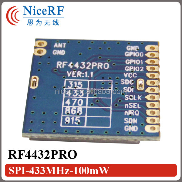 G-NiceRF RF4432PRO 20dBm 433MHz Wireless RF Data Transmitter Module