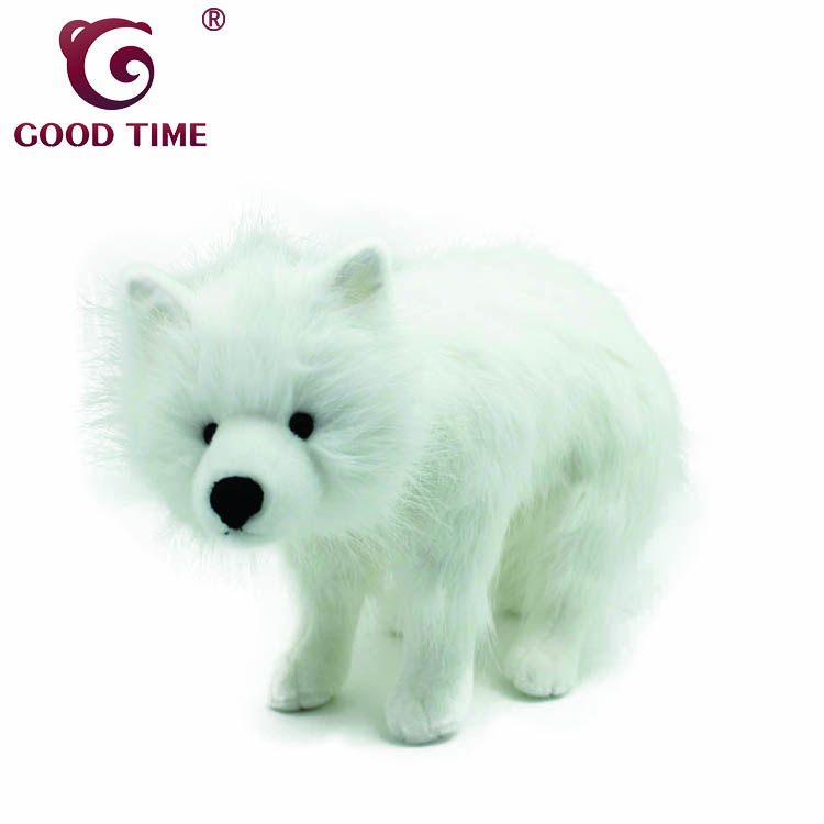 Customized Super Cute Stuffed White Wolf Soft Plush Arctic Wolf Toy