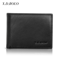 X.D.BOLO Amazon Best Selling Flip Credit Card Holder Soft Genuine Leather Men Minimalist Wallet