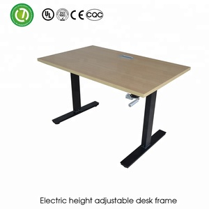 Manual Crank Adjustable Height Desk Sit Standing Office Work By Manual Hand  Cranked U0026 Height Adjustable Table Legs For Sit Stand