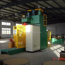 250KG drum barrel packing packer filler machine for MIG/FCW wire drawing machine line