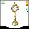 China retro gold small long decoration metal desk clock