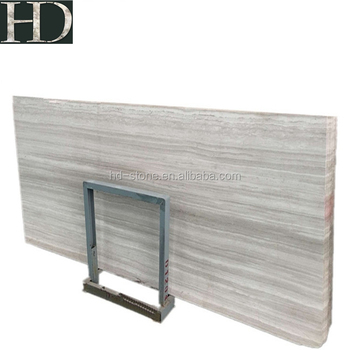 High Quality China Wooden White Vein for Floor Marble Big Slabs White Serpeggiante with Vein