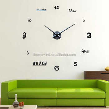 diy wall clock for home decorate 24 hour big clock machine digital