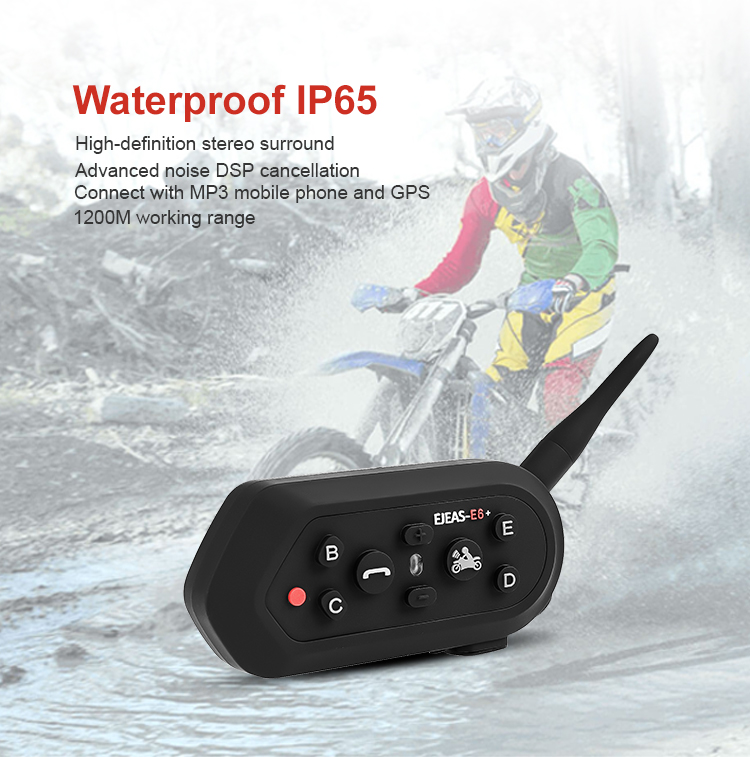 High Quality motorcycle helmet bluetooth headset for motorcycle helmet 2 riders intercom system
