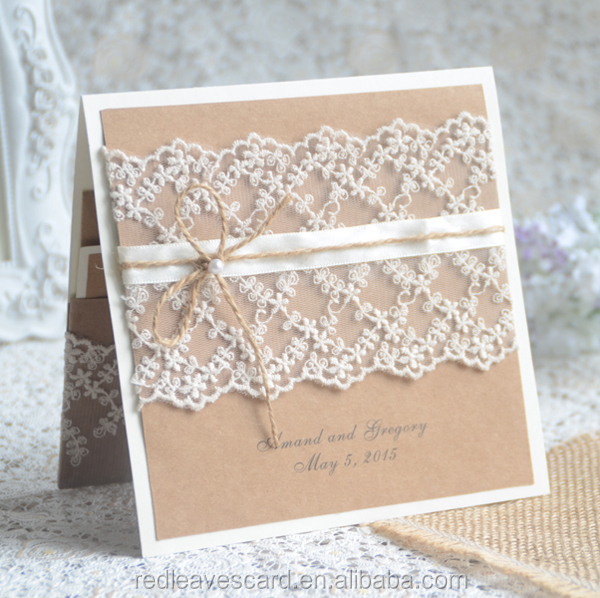 Paper Flowers Handmade Wedding Invitation Cards Party ...