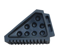 Heavy Duty 18cm High Parking Equipment Durable Blocks Black Vehicles Aircraft Wheel Chock For Trailer Stop