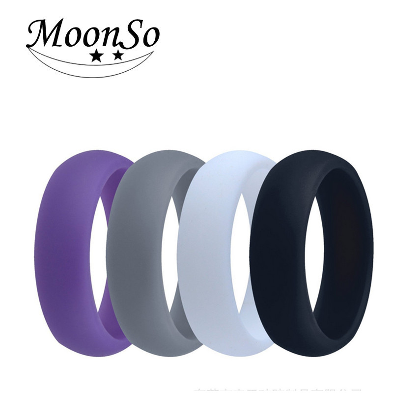 Man and Women Fashion Silicone Engagement Wedding Finger Ring Moonso AR5061