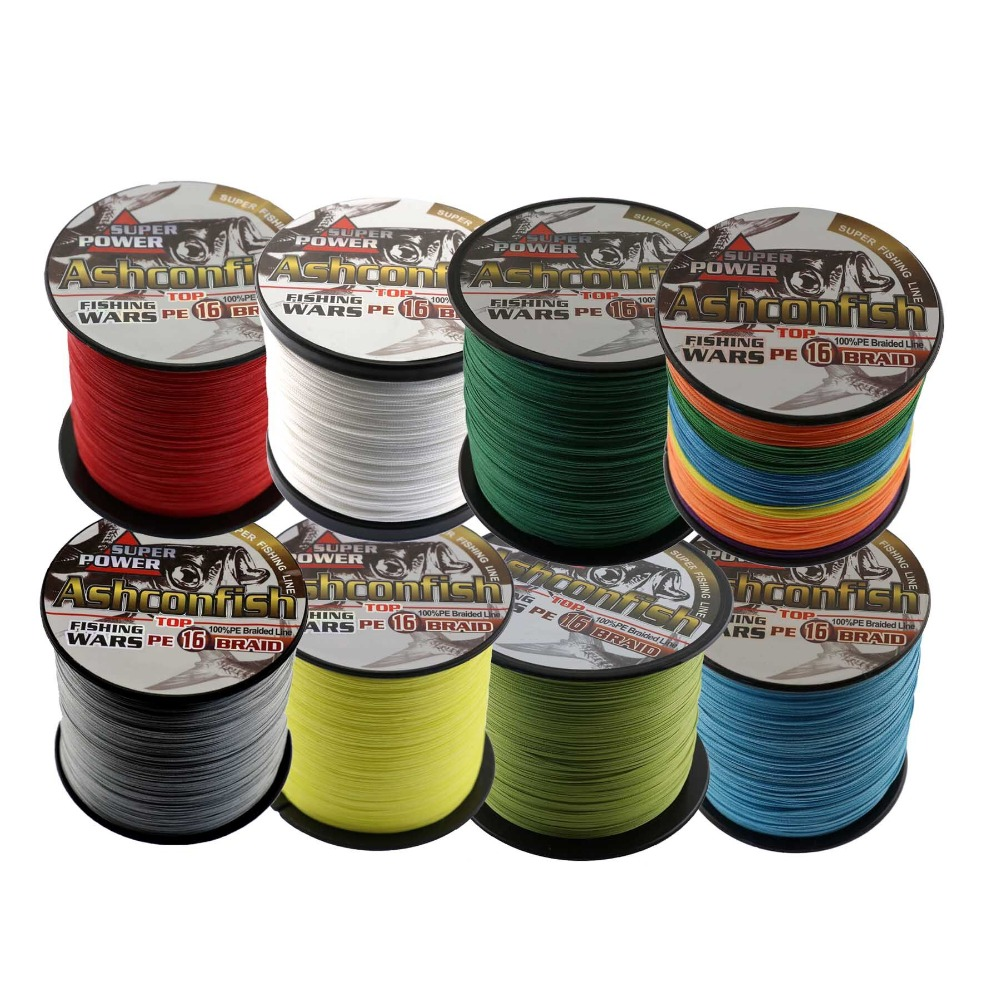 super strength 16 strands 1000 m 6-120LB PE braided fishing line