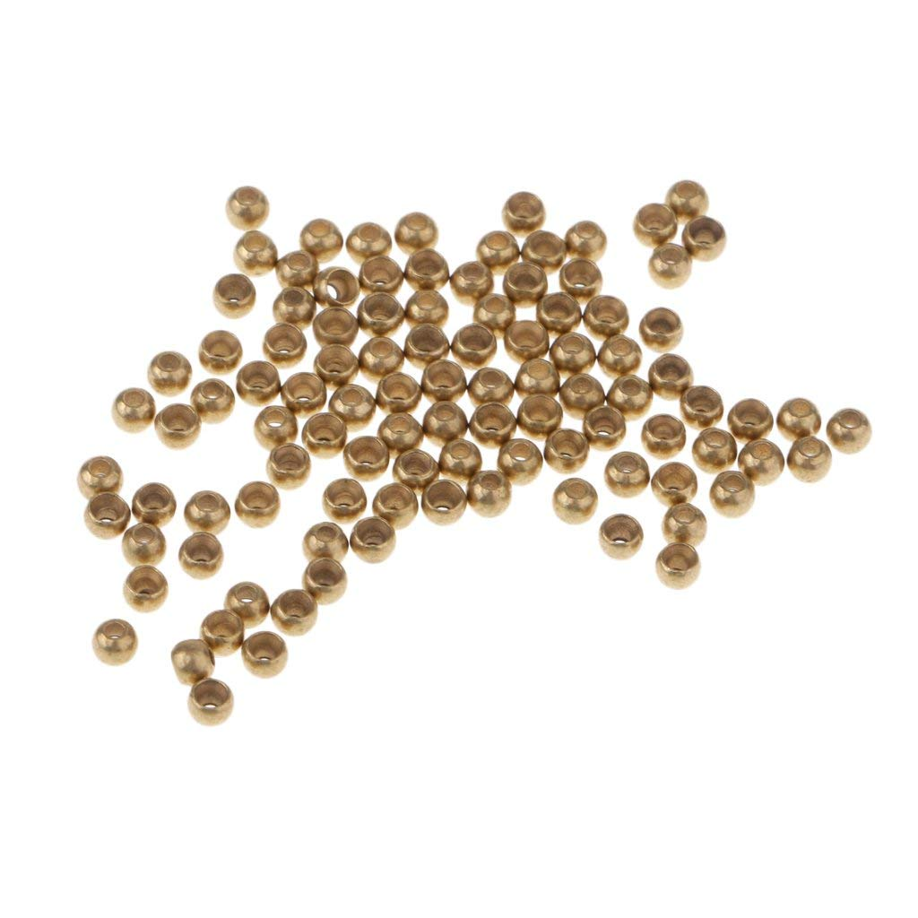 SunniMix Brass Beads for Fly Tying, Small Sinking Nymph Head Fly Eyes Tying Materials