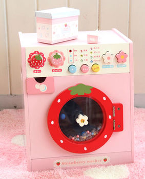 Kids Wooden Play Kitchen Washing Machine Wooden Play
