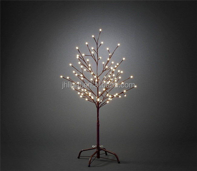 90cm Brown Outdoor Led Christmas Twig Tree Outdoor Lighted
