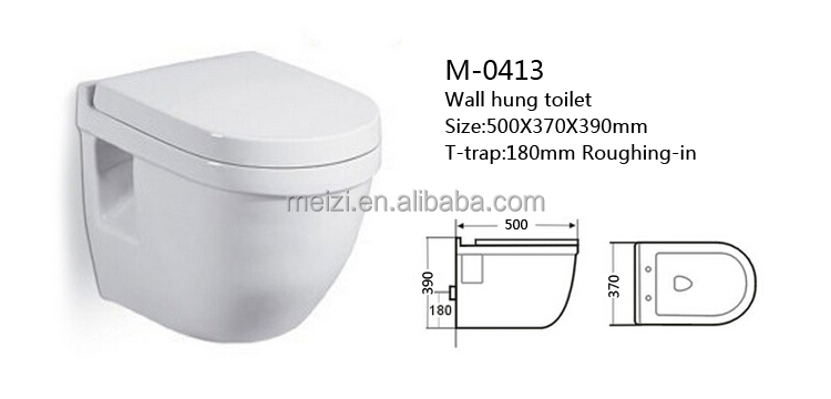 New design ceramic wall mounted toilet bowl
